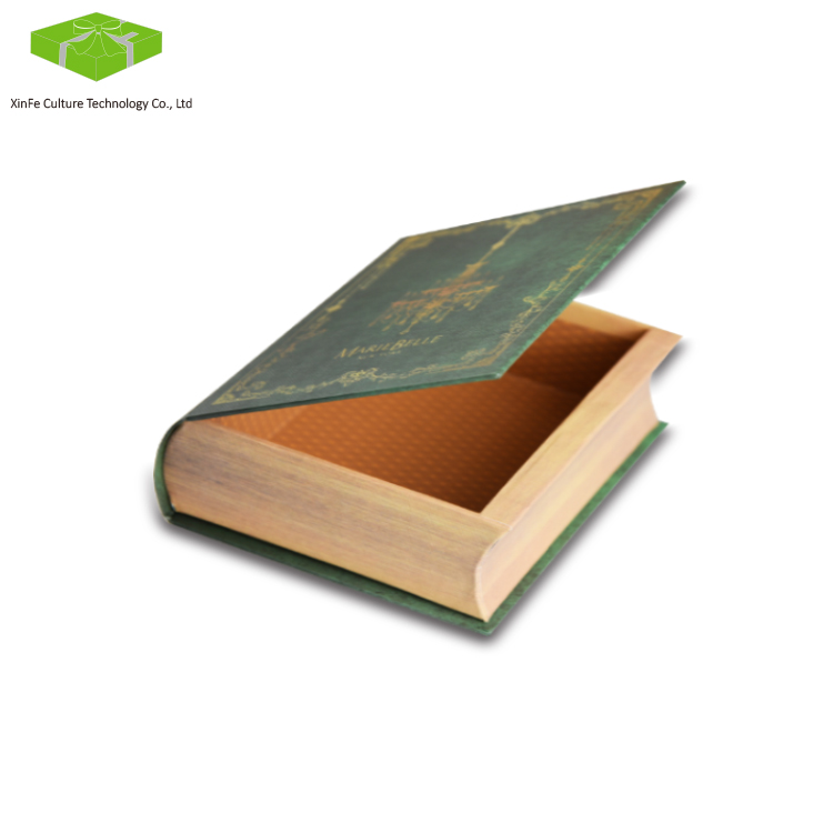 custom classic cardboard decorative book shaped boxes
