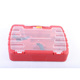 red mechanical portable plastic toolbox