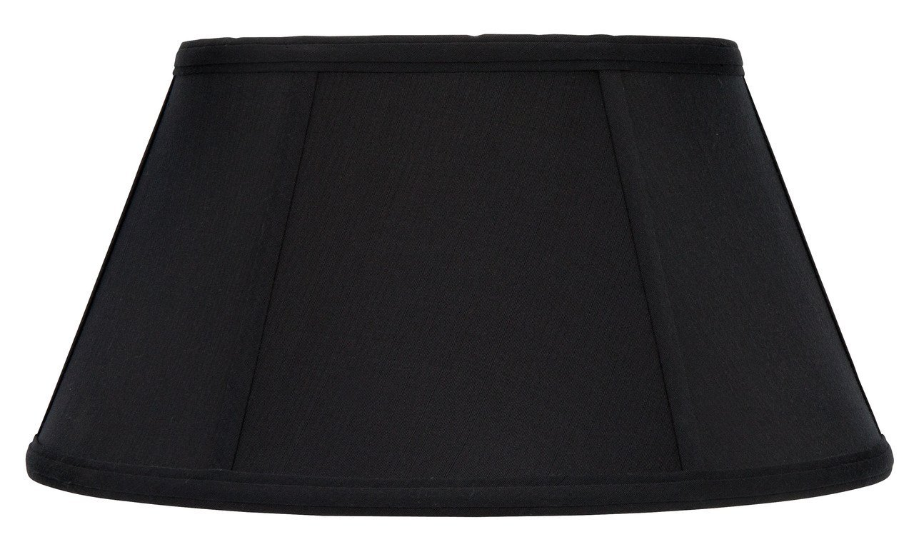 Upgradelights Black with Gold Lining Shantung Silk 16 Inch Bouillotte Lamp Shade