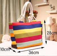 2016 Hot rainbow stripe canvas bag, handbag,bags women bags China supplier