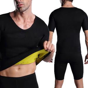 375d8ecff17c7 Hot Selling Slimming Black Short Sleeve Tank Body Shaper For Men