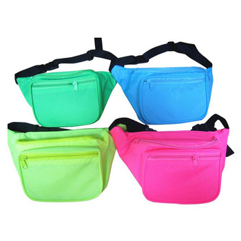 Oempromo Colorful Nylon Sport running waist bag and fanny pack