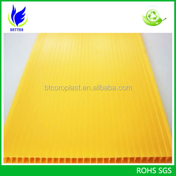Corrugated PP plastic sheet/pp hollow sheet/pp corflute
