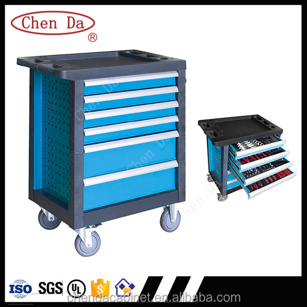 2016 ChenDa 6 drawers drawer cabinet/tool cabinet/metal tool box with tools