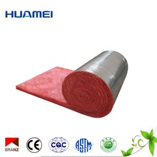 cheapest price glass wool thermal insulation roll blanket with aluminium foil 100% sticker