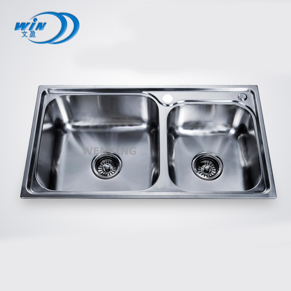 Free Standing Commercial Kitchen Sink / Stainless Steel Double Sink 16  Gauge Top Mount Australian Stainless Steel Kitchen Sinks - Buy Free  Standing ...