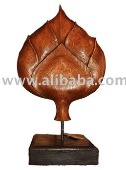 Wooden Traditional Thai Lotus Flower Decoration Wood Carving