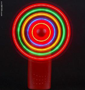 led hand held fan/rechargeable fan with led light