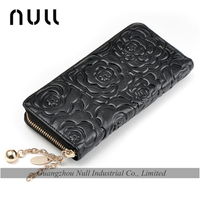 China supplies embossing competitive price lady leather wallet for travel