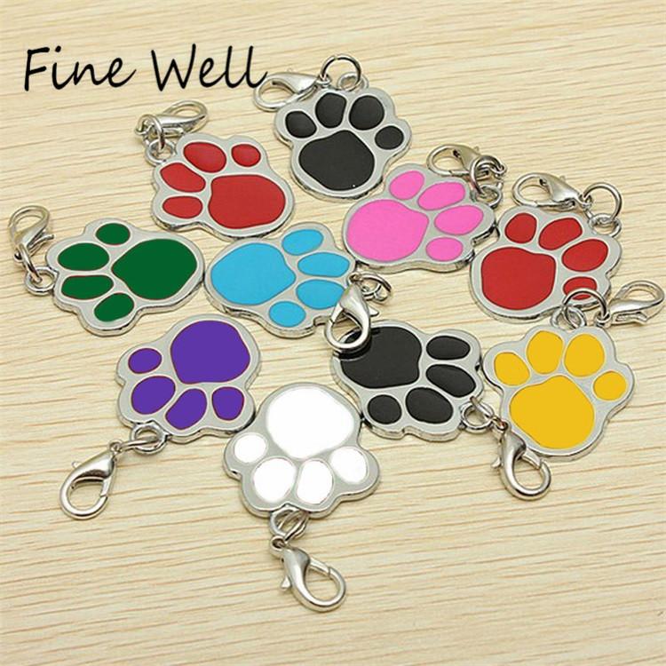 faceb837c0b6 Hermosa huella en forma de diseño de logotipo personalizado de Metal de  aleación para mascotas de perro-perro ID Tag