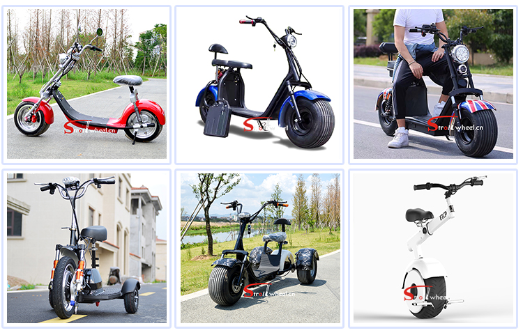 2019 new style 2 wheel citycoco 1000w with 18*9.5 Fat Tyres /electric citycoco motorbike with Backrest