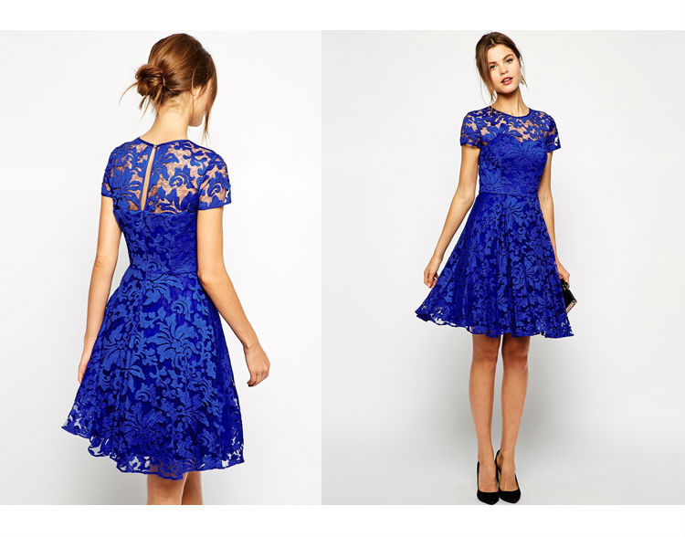 99ae40fb40 Factory supply latest design lace dress ray silk flowers dress for ladies