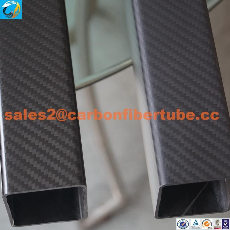 High strength and durable matt and twill 3k carbon fiber square tube