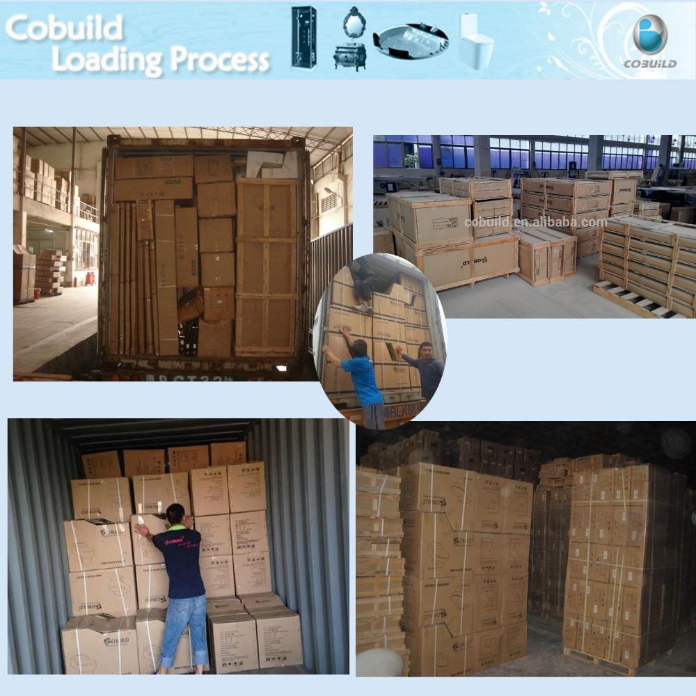 Waterproof wood bathroom vanity cabinet classical solid for Waterproof bathroom cabinets