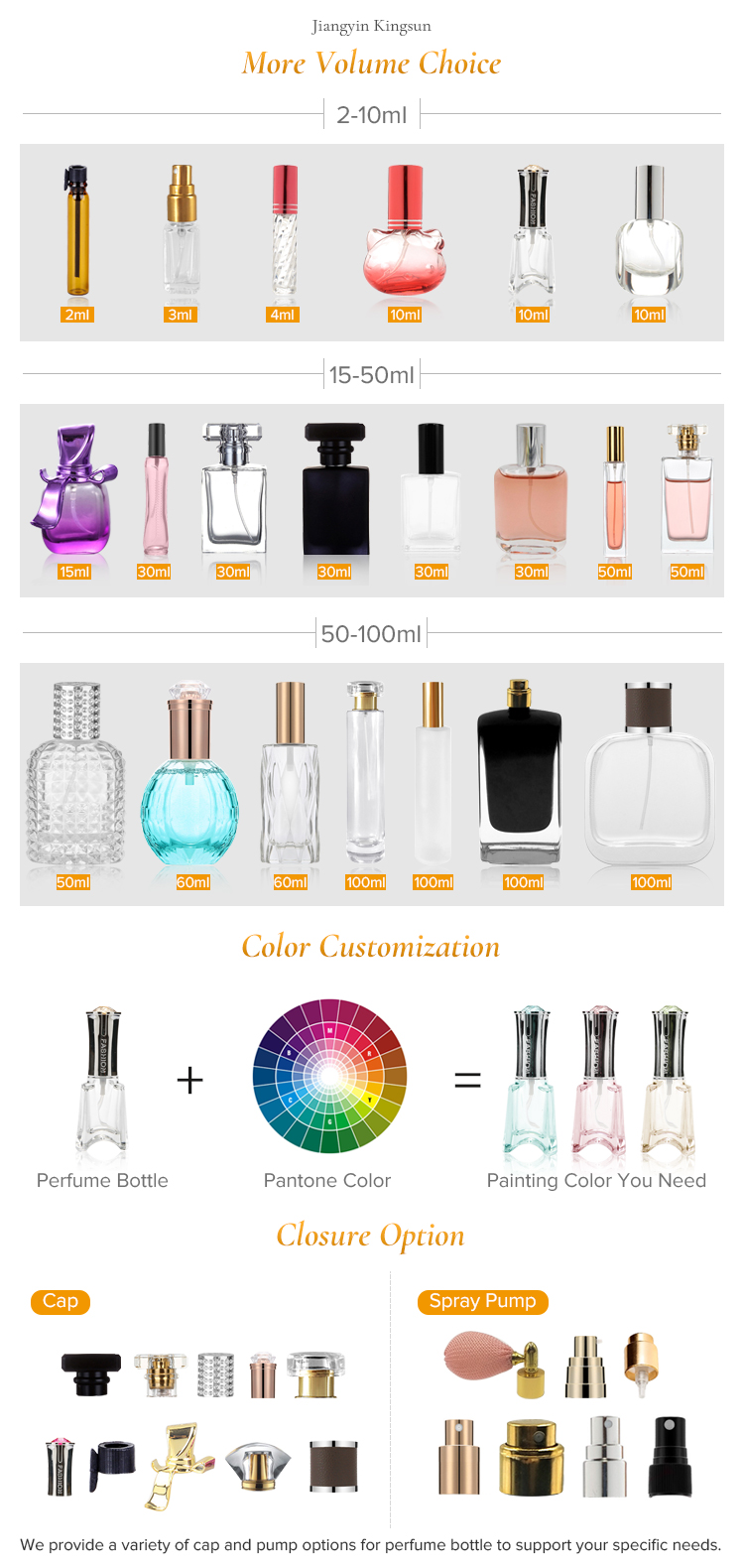 Fantasia 100 ml recarregáveis projetar seu próprio senhoras perfume garrafas de vidro vazias para venda