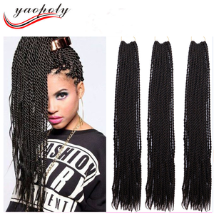 22Inch 30Roots/Pack Synthetic High Temperature Fiber Senegalese Twist Crochet Braid