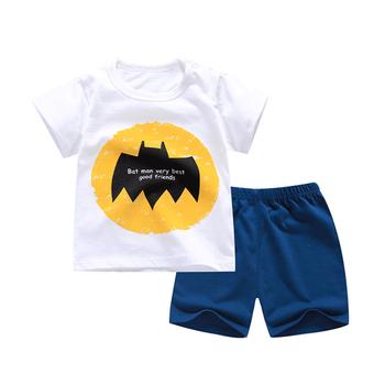 bd8e0ce33de6 Boys Summer Clothes Set T Shirt+short Pants Cotton Letter Printed ...