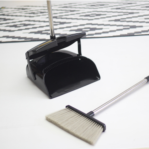 Pet Material Broom Convenient Handy Stainless Steel Pole For Home Cleaning Plastic Broom & Dustpan