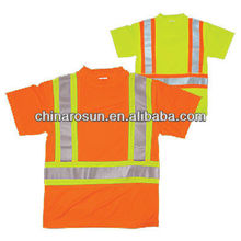 ANSI Class 2 T-Shirt With Flat stictching Panels Safety T-Shirt reflective T-Shirt