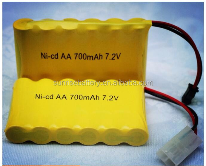 7.2V battery pack/ ni-cd 700mah 1.2V/7.2V aa 700mAh nicd battery pack