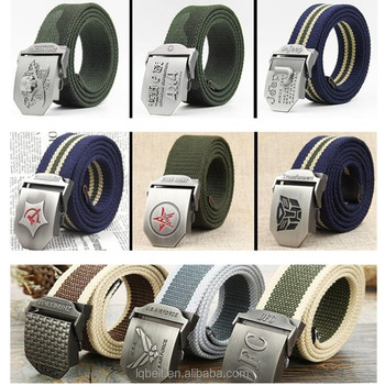 can custom 120cm thicker Canvas belt outdoor military alloy buckle woven Weaving Fabric Men's belt wholesale Factory fashion