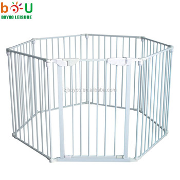 2018 7sides Adjustable Kids Baby Gate/pet Friendly Baby Safety Gate For  Stairs And Doorways