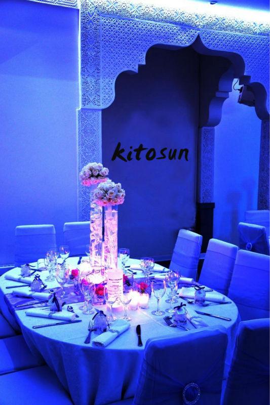 Round Glass Mirror Centerpiece Base : Crystal wedding columns for decoration mirror