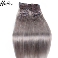 Clip in hair extension remy human,wholesale price unprocessed human hair extension clip in