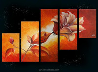 From china flower oil paintings for sale, high quality flowers canvas oil painting