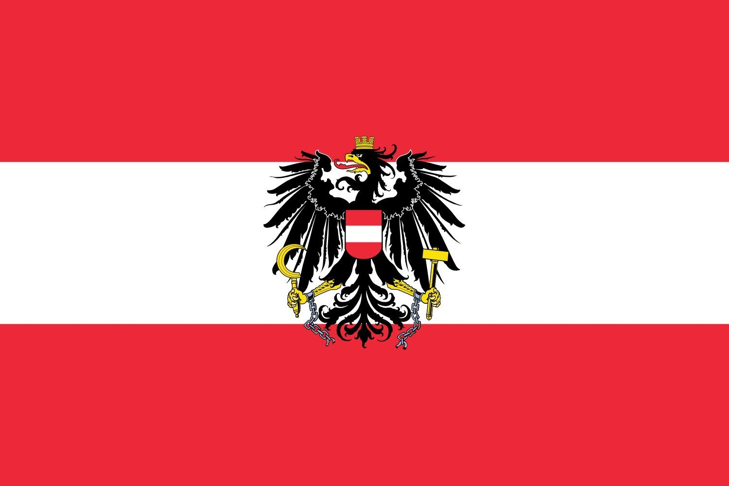 magFlags XXXS Flag Austria § 30x45cm | 1x1.5foot -- 100% Made in Germany -- long lasting outdoor flag