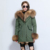 Wholesale Raccoon Fur Hooded Parka Faux Fur Lined Parker Jacket for Women High Quality Winter Fashion Warm Coat