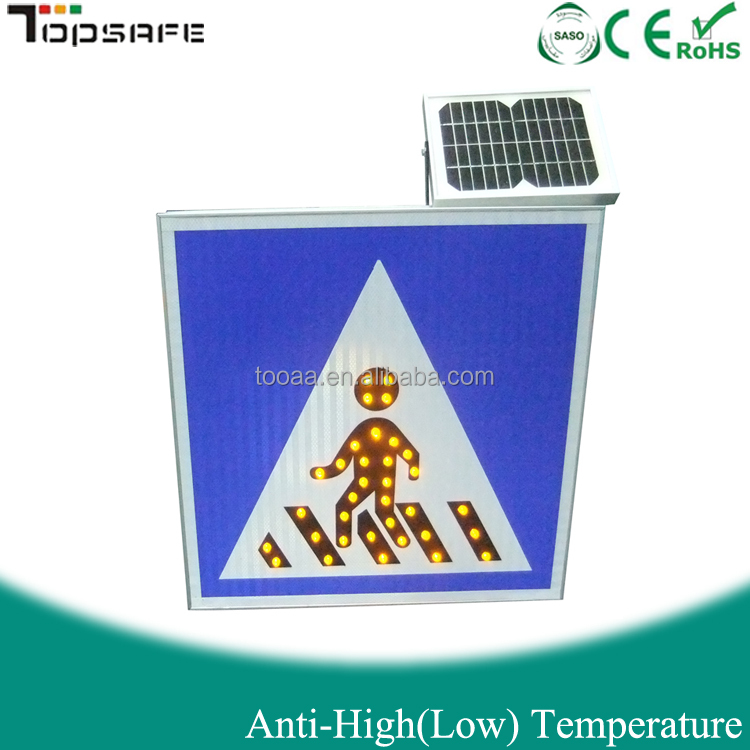 LED Solar Electronic Traffic Sign with CE