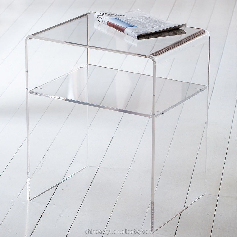 White Acrylic Side Table #UJ79 – Advancedmassagebysara