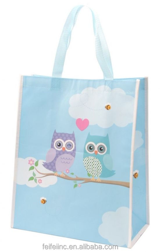 Recycled special design laminated fancy shopping Bag