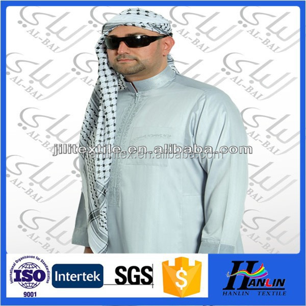 2015 high quality 100%microfiber polyester fabric for arabric thobe