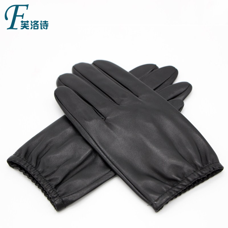 Men Real Leather Gloves Winter Driving Warm Gloves