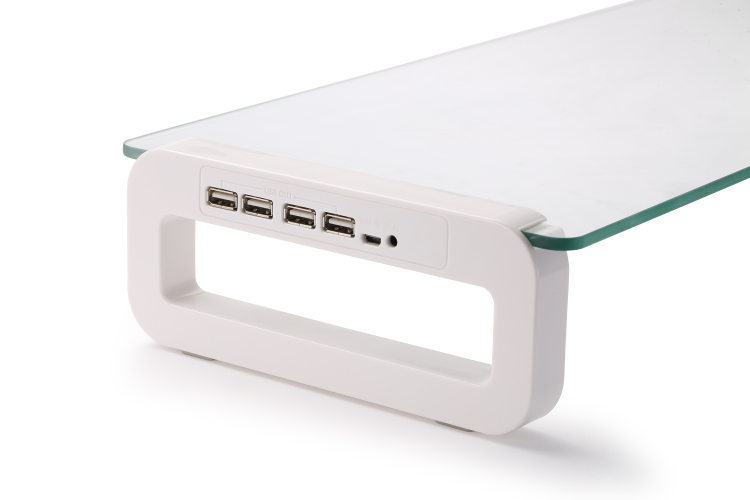 Tempered glass monitor stand with usb hub 2.0 3.0 port