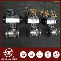 Pneumatic actuator stainless steel ball valve quarter turn
