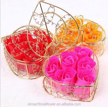 Pabrik Hadiah Valentines Jantung Berbentuk Buatan Bunga Sabun Rose