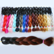 New arrival 2017 ombre braiding hair 100g crochet braids hair extention 24inch two tone jumbo braiding wholesale synthetic hair