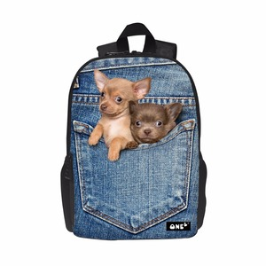 dog design creative leisure children high quality school bag Backpack