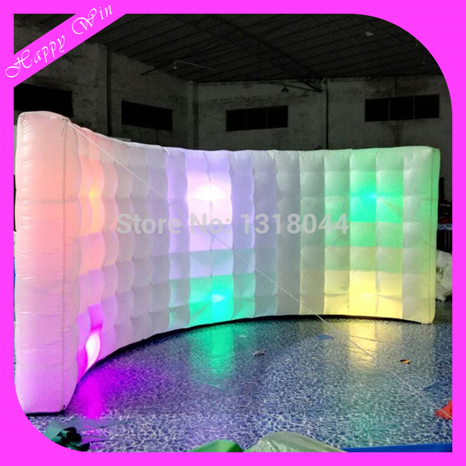 Giant inflatable wall with led lighting,indoor led inflatable photo wall for decoration for sale