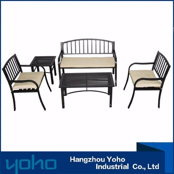 Superior Steel Tube Patio Set,Used Modern Patio Furniture For Garden,Table Set From  China