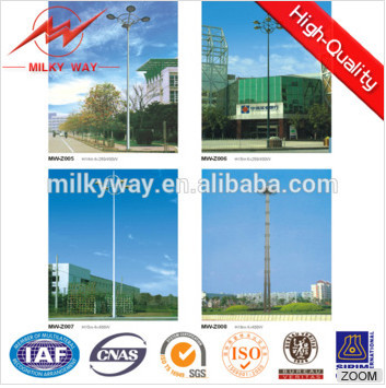 Q235 3m-35m high mast pole foundation design / galvanized pole manufacturers/ street light poles