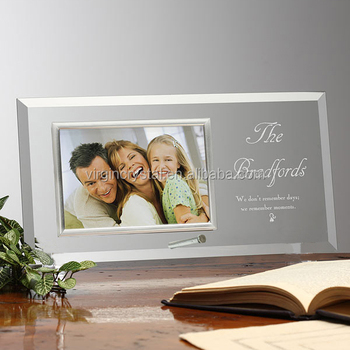 Laser Engraved Crystal Glass Photo Picture Frame For Family Buy