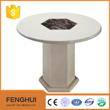 Round modern dining room badroom furniture marble stone top tables
