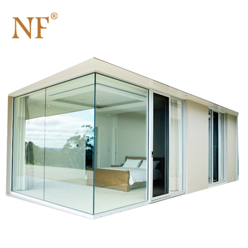 Ground to top aluminium double glass window hurricane proof