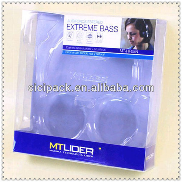 blister carton for earphone packaging