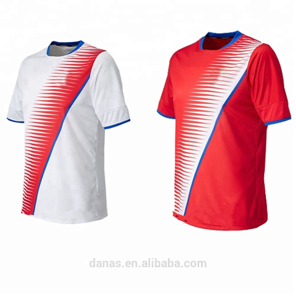 60351f26721 Factory wholesale red and white thai quality 2017 2018 soccer jersey shirt  uniform free shipping to costa rica