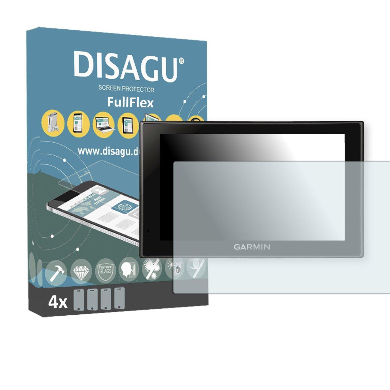 4 x Disagu FullFlex screen protector for Garmin Camper 660 LMT foil screen protector
